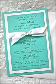 tiffany themed invitations - Google Search