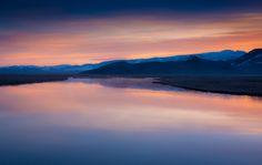 Flat Creek at sunrise - National Elk Refuge