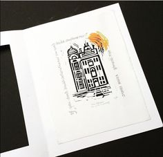 hand pulled linoprint with typo added, by Mea Bateman