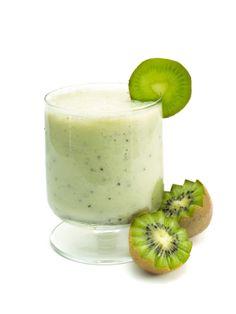 Batido de kiwi y vainilla. Aporte ideal de vitamina C.