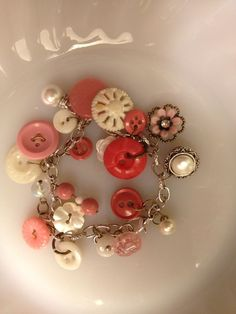 Just made my first piece of jewelry using old vintage buttons & store ...
