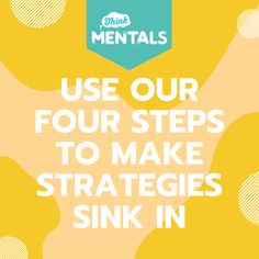Think Mentals - Four steps to make strategies sink in Mental Maths, Sink In, Reading, How To Make, Word Reading, Reading Books, Libros