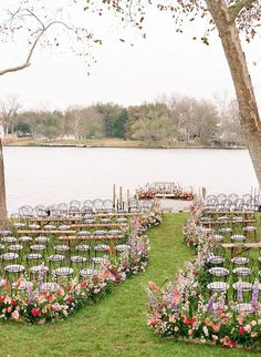 Romantic, whimsical, lush... this February wedding on a lake in Texas is chock full of our favorite things. No surprise they all involve flowers! A winding flower aisle ceremony just off the water, a pink checkered dance floor canopied by a fresh floral ceiling, mid-century modern lounges with rattan chairs, geometric bars and velvet upholstery... we should just let you see it with your own eyes, yes? Wedding Locations, Wedding Vendors, Wedding Ceremony, Whimsical Wedding, Floral Wedding, Wedding Day Inspiration, Wedding Ideas, Wedding Details, February Wedding