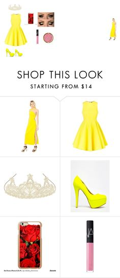 """""""Belle"""" by sunshinekej on Polyvore featuring Versace, AQ/AQ, Monsoon, Anne Michelle, Incipio, NARS Cosmetics and Milani"""
