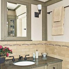 handsome face-lift for a dated bath | craftsman style, craftsman