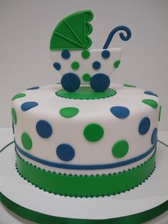 Baby Shower Cake for Blue/Green Theme