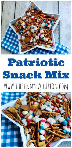 4th of July Snacks! Patriotic Snack Mix Recipe - Perfect for your Independence Day picnic!