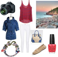 4th of July in Maine, created by aleach3 on Polyvore