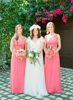 This Romantic Naples Garden Wedding from Justin DeMutiis Photography features hot pink bridesmaids and coral charm peonies. Amsale Bridesmaid, Bridesmaid Dress Styles, Bridesmaids, Wedding Dresses, Garden Wedding, Dream Wedding, Coral Wedding Colors, Wedding Day Inspiration, Wedding Ideas