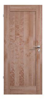 Moderne Massivholztür in Birke, lackiert mit einer Holzfüllung - dein Unikat für Zuhause!