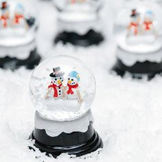 Miniature Wedding Snowglobe by Beau-coup