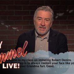Mean Tweets: Robert De Niro Edition