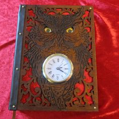 Book of Shadows (big book) Owl Clock, Nocturnal Birds, Vampire Books, Magic Book, Book Of Shadows, Book Gifts, Handmade Decorations, I Fall In Love, Primary Colors