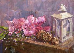 Glad Tidings by Barbara  Schilling Oil ~ 24 x 33