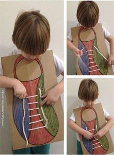 Learning to tie shoes- Aprendendo a amarrar os sapatos Learning to Tie Your Shoes – Boy& Chest - Toddler Learning Activities, Montessori Activities, Motor Activities, Preschool Activities, Teaching Kids, Kids Learning, Infant Activities, Human Body Activities, Learn To Tie Shoes