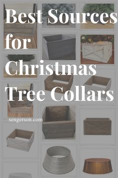 Looking for affordable Christmas tree stand collars? These Christmas tree collars are gorgeous and affordable at some amazing online stores. Find amazing options for your living room Christmas tree. #christmastreecollar #affordablechristmasdecor #christmasdecor