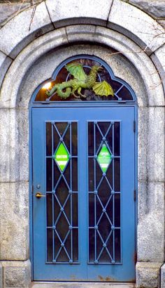 Love this entry! Look at the dragon stained glass transom! New York City, New York