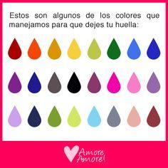 Algunos de los colores para dejar tu huella en el árbol de huellas, wedding tree