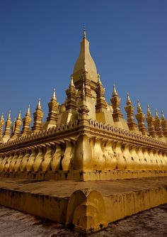 Stupa That Luang in Vientiane - Laos --- UNESCO World Heritage Site