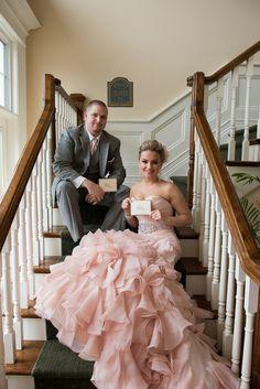 Pink and Grey Wedding  - Pink Wedding Dress