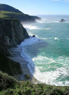 View from Highway 1, Big Sur, California