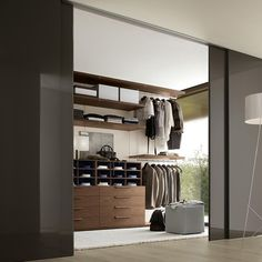 Walk-In Closet for the BF - so organized! (http://www.awhiteroom.com/jesse-furniture/jesse-walk-in-closets.asp)