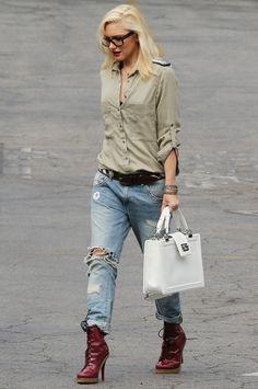 Gwen Stefani Chanel boy bag