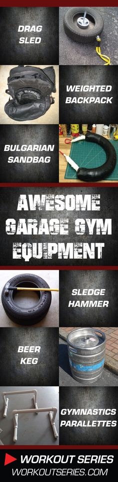 DIY: Homemade Garage Gym Workout Equipment – 36 Cool How-To Projects #CrossfitGym