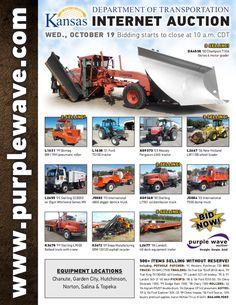 Kansas Department of Transportation Auction October 19, 2016 http://purplewave.com/a/161019