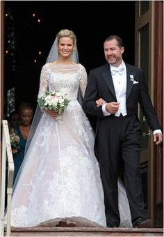 Princess Christina's son Gustaf Magnuson marries Vicky Andrén