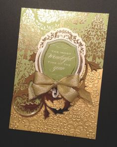 Elegant Dimensional Christmas Card with Gold Foil Anna Griffin Papers
