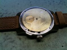 After welding the fitting together with case. Get In Shape, Welding, Watches, Birth, Handmade, Accessories, Getting Fit, Soldering, Hand Made