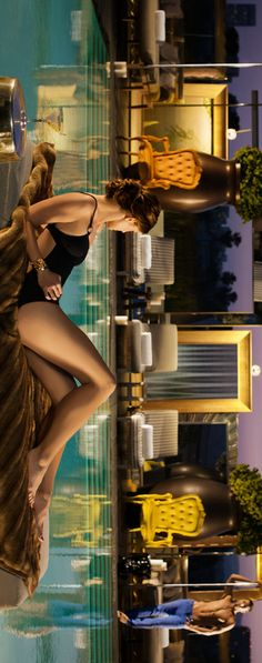 Lounging by the pool   SLS Hotel, Beverly Hills, California ~ Cynthia Reccord