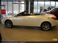 2008 Pontiac G6 GT Convertible in White Diamond Tri Coat