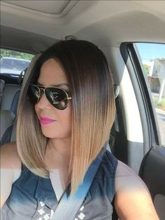 If you want a medium hairstyle that shows serious versatility, a long bob hairstyle is a right choice. No matter what hair type you have, what your face shape and what color you like, a long bob ha… Inverted Bob Hairstyles, Long Bob Haircuts, Wig Hairstyles, Bob Lung, Medium Hair Styles, Short Hair Styles, Gorgeous Hair, Beautiful, Human Hair Wigs