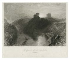 'Kilgarran Castle, Pembrokeshire, South Wales', by J. M. W. Turner R.A., etching, 1829 | Peoples Collection Wales