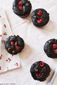 Curly Girl Kitchen: Chocolate Raspberry Muffins