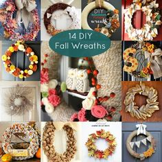 14 DIY Fall Wreaths