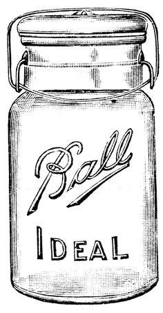 CLIP ART :: Large clamp mason jar (CLICK FOR MORE JAR