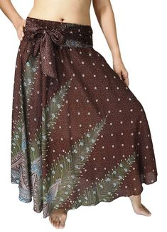 Lovely Creations Women Long Bohemian Maxi Skirts Midi Dress US Size 0-16