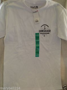 New Boy Youth Quicksilver T-Shirt White Size XL 18-20 New