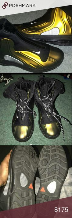4fdef93b81 NIKE FOAMPOSITE 1-95 ACG BOOTS RARE SZ 9M METALLIC GOLD/BLACK NO SCUFFS  CLEAN INSIDE / OUT ONLY WORN ONCE RARE FIND IMMACULATE CONDITION NIKE Shoes  Boots