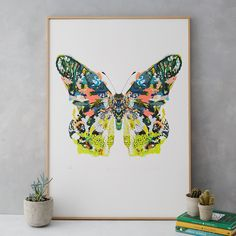 PRE ORDER Brasilia Butterfly Limited Edition Art Print Delivery 31/10/2017