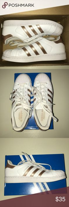 size 40 a1a64 dffac Gold Adidas Superstars Women gold adidas superstars size 7, they have been  worn and creased