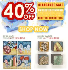 Get 40% off selected Wall Art during our Clearance Sale