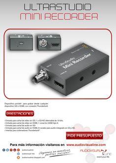 Alquiler UltraStudio Mini Recorder, este pequeño dispositivo portátil te permitirá grabar desde cualquier dispositivo SDI o HDMI y trasmitirlo por conexión Thunderbolt a tu pc o mac; tendrás la señal de vídeo al segundo en alta calidad, para archivar, retocar, o incluso hacer streaming. Pixel por pixel HD al dispositivo conectado; la solución portátil que cabe en tu bolsillo.