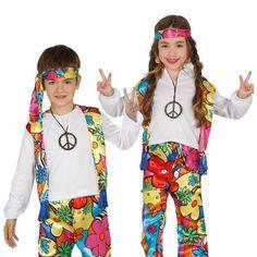 disfraz hippie infantil colores
