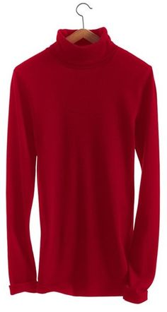 Womens long-sleeved fine sweater in iconic cotton