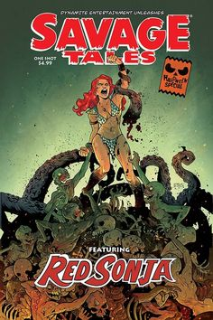 Savage Tales Halloween Special Red Sonja (One Shot) Comic Book 2019 - Dynamite Halloween Night, Spirit Halloween, Halloween Masks, Baby Halloween, Halloween Themes, Halloween Decorations, Drawing Blood, Diamond Comics, Free Comic Books