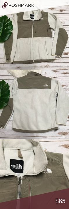 The North Face Cream Pullover Jacket Warm zip up jacket from The North Jacket. Zip up pockets. Cream and Taupe color. Good condition! The North Face Jackets & Coats